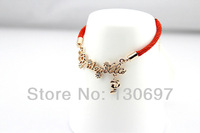 fashion bracelet Cinderella rose gold girl friend gift jewellery new arrival freeshipping red rope