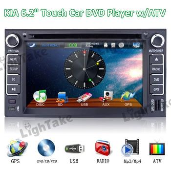 "FREE SHIPPING 2Din HD Hifi Car DVD stereo ES686K GPS CAN-BUS 6.2"" 3D Menu IPOD DVB TV for KIA CERATO ,SPORTAGE, CAREN,CARNIVAL"
