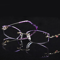 New arrival 2013 myopia rimless eyeglasses frame diamond glasses Women glasses 179