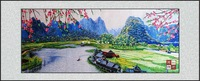 The Chinese style product home decorative painting lover embroidery finished product home decoration