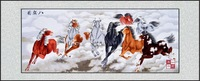 The Chinese style product elegant gift home decorative painting suzhou embroidery eight horses horse gallops