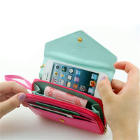 Crown smart pouch leather wallet case for Samsung Galaxy S2,I9100,for iphone 4/4s 5 ,for 4.3 inches screen Free shipping
