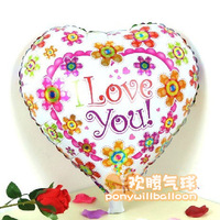 "Free Shipping (50pcs/lot) 18inch Heart Foil Balloons""LOVE"" 100% Good Quality CE Approved"