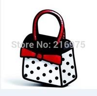 New !!! bowknot gismo cartoon bag Dot+Bowknot cartoon 2d 3d comic free shipping carry in space handbag