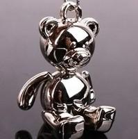 1pc/lot Small raccoon, cute bear keychain key ring metal key chain creative key chains fob rings