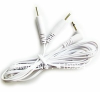 DC 2.5mm Pin 2.0mm 2 in 1 Head electrode cable for digital therapy machine ,tens machine ,slimming massager,Free Shipping