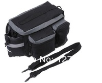 Black Multi-functional Bicycle Rhear Seat Trunk Bag Bicycle Busket Soulder Handbag Bag Pannier, Free Shipping
