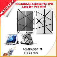 Wholesale NINJACASE Uniqe stylish smart cover case for iPad mini PC shell with TPU double injection proctect cover for ipad mini