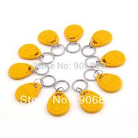 2014 Promotion Real Rfid Card 100pcs 125khz Rfid Proximity Id Card Token Tags Key Keyfobs Access Control Use Yellow