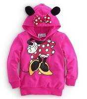 new 2013 children christmas hoodies coats&jackets clothes autumn-summer Minnie mouse t-shirt for baby girls sport outfits