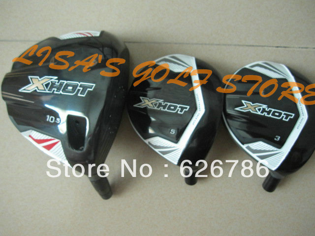 New X HOT Driver+3# 5# Fairway Woods 10.5 loft Regular/Flex Golf Clubs With head covers Free shipping(China (Mainland))