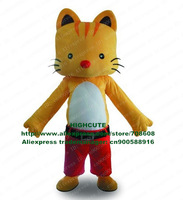 Cat Mascot Costume Pussycat Puss Eyra Pussy Kitten Tomcat Dink Lovely Kitty Catling No.4080 Free Sh