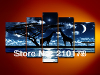 Free Shipping!!5pcs MODERN ABSTRACT HUGE WALL ART OIL PAINTING ON CANVAS LA5-028