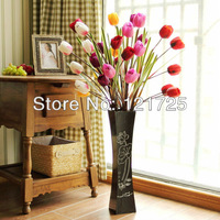 Free Shipping One Bouquet 94cm with 5pcs Flower heads Silk artificial flowers decoration for Home or Wedding