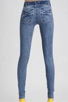 New Arrival Printing Faux Denim Jeans Ladies' Skinny Leggings Pencil Pants Slim Elastic Stretchy Free Shiping 13117