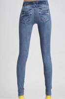 Free Shiping New Arrival Printing Faux Denim Jeans Ladies' Skinny Leggings Pencil Pants Slim Elastic Stretchy  LB13118