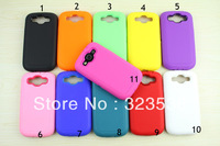 High Quality 3 in 1 Silicone Case For Samsung Galaxy S3 S III i9300 Back Cover Gel Silicone Case 11 Colors DHL Free Shipping