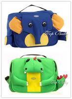 RETAIL--Green Dinosaur and Blue Elephant SoftBack Animal-Prints Animal- Shaped Children bag/Baby backpack/kids traveling bag