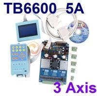 TB6600 3 Axis 5A CNC Kit Stepper Driver Board + Intelligent Handle Keyboard + LCD Digital Display Stepper Driver Controller