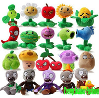 New  Fashion Games Plants Vs Zombies Super cute  Caroon 15-35cm plush stuffed toy 2pcs /lot Free Shipping