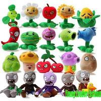 New  Fashion Games Plants Vs Zombies Super cute  Caroon 15-35cm plush stuffed toy 2pcs /lot Free Shipping