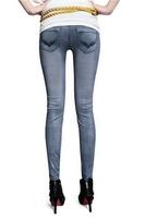 Spring Winter Leggings New Arrival Women's Grey Low-cut Jeans Leggings One Size Fit Most 13118 Jeggings Ladies Pants