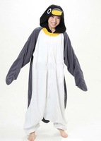 Unisex PENGUIN Adult Kigurumi Anime Costume Pajamas Onesies for adults hooded animal costumes Pyjamas Coral Fleece onesie Adult