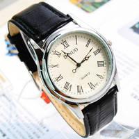 Beautiful Waterproof commercial brief male watch vintage fresh Men strap table