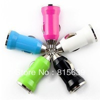 Free shipping 10pcs/lot mini USB car charger adapter for Iphone 4s 5s Ipod tablet pc smartphone samsung,htc