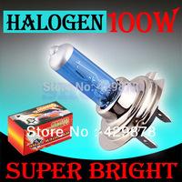 H7 Super Bright White Fog Halogen Bulb Hight Power 100W Car Headlight Lamp parking