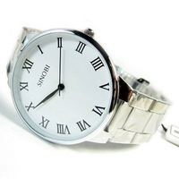 Beautiful Fashion brief vintage male watch mens watch male lovers watch lovers table