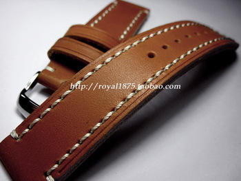 Antique handmade m222s 20mm calf skin watchband retro finishing bold genuine leather watchband