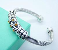 Hot Selling 2013 Jewelry Charm Bracelet  for Men/Women Free Ship Wholesale Silver Plated Bangle 925 Silver Jewelry TTDB29