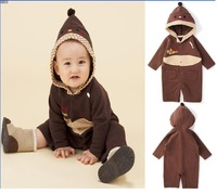 Free Shipping!2013New Arrival Autumn Baby Hooded Rompers,comfortable kids Hooded jumpsuits,children's wear,5set/lot,wholesale
