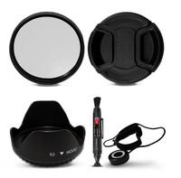 100% GUARANTEE100% GUARANTEE 52 MM Hood + UV Filter + Cap & Keeper + Lens Pen for Nikon D3100 D5100 D5000 D90