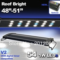 "LED 48"" 3300 Timer Aquarium Light Marine Bright FOWLR Cichlid 54x 1 Watt 120 cm"