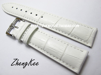 Hk 16mm 18mm 19mm 20mm 22mm chromophous white red cowhide genuine leather watchband