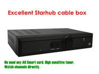 Starhub box singapore hd Black Q5C set top box high sensitive tuner cable box free channels  3 pcs/ lot