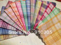 100% cotton handkerchief small women's plaid handkerchief towboats fashion women handkerchief free shipping