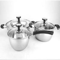Exquisite stainless steel set piece set soup  milk pot hot pot multi-purpose pot