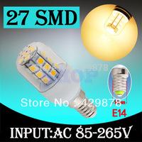 E14 27 LED SMD Warm White  Home Corn Bulb LED Light Lamp 85-265V 110V 220V 230V With Cover 5050 Home Light