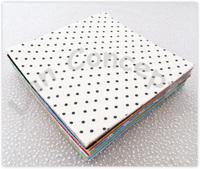 Free shipping DIY Polyester Felt Fabric Non-woven Sheet with Printed Polka Dots flowers Hearts -300x300mm 81pcs/lot LA0075B