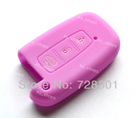 Purple Silicone 3 Buttons Smart Key Case Cover Holder Protecting Bag For Kia Picanto Forte Morning Sportage Optima K5 K7 Soul
