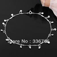 Free Shipping 12PCS Fashion Crystal Charms Metal Anklet Bracelet&Bracelet, Fashion Jewelry