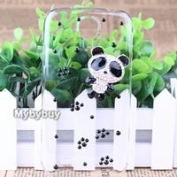 Cute 3D Bling Crystal Panda Diamond Case For Samsung Galaxy S4 i9500 Free  Shipping