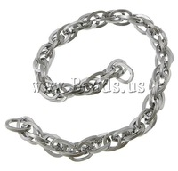 Free shipping!!!Stainless Steel Chain,2014 Fashion, oril color, 9x6.50x1.20mm, Length:100 m, Sold By Lot