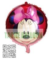 Free shipping 50pcs/Lot 18 inches foil balloon,cartoon balloons