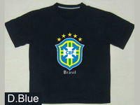 Free Shipping Printing Brazil Team Soccer Big Logo Custom t Shirt 100% Contton Men Short Sleeve O-NecK DIY T Shirt T-720822