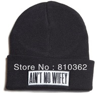 wholesale ain't no wifey beanie winter skullies, 25 pcs/lot  mix order with other brand beanies,safe  fast  euro country  by dhl