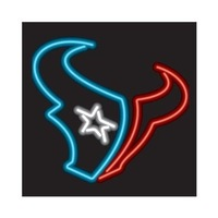 "NFL Houston Texans Football Beer Bar Pub Handcrafted Real Glass Tube Neon Light Sign 18"" X 14"""